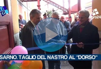 Sarno. VIDEO. Taglio del nastro all'ITC Dorso