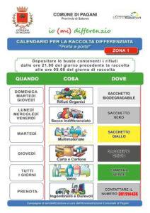 Calendario Raccolta Differenziata Napoli.Pagani Le Due Zone Gli Orari E Il Calendario Per La