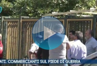 VIDEO – Scafati. Salerno. Commercianti sul piede di guerra.