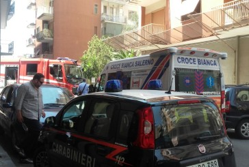 Nocera  Inferiore. Incendio in via Loria