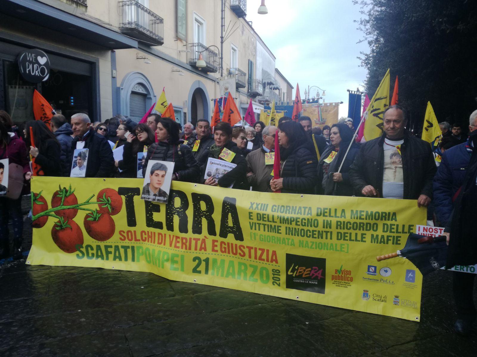Giornata della memoria per le vittime di mafia, in 20mila da Pompei a Scafati