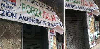 Pagani Forza Italia vandalismo al comitato