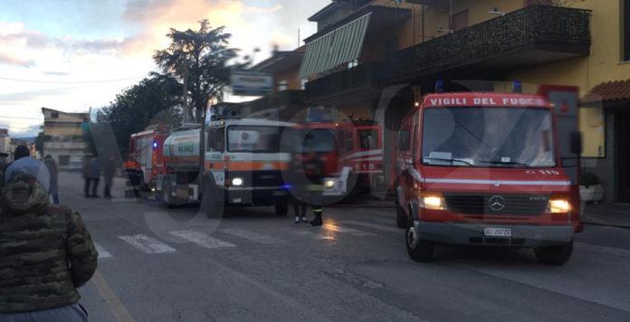 San Lorenzo Incendio Via Michelangelo Buonarroti