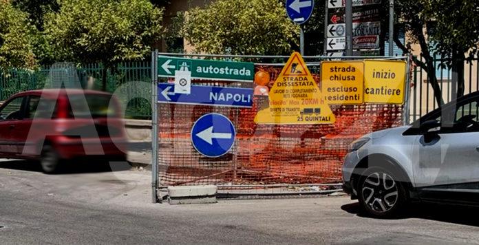 Scafati Via Martiri d'Ungheria Lavori