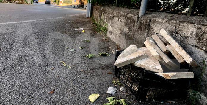 Angri rifiuti via Nazionale