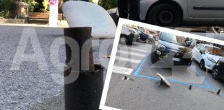 Angri Piazza Annunziata furto transenna