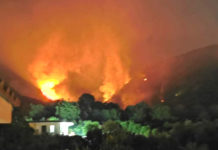 Incendio Montagna di San Gennaro