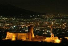 Lettere il Castello in notturna