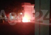 Angri Incendio all'IC Smaldone