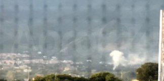 Angri incendio sterpaglie