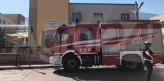 Angri scuola Fusco Vigili del fuoco
