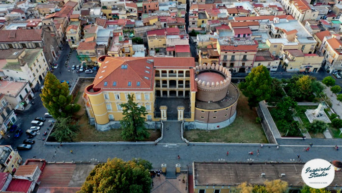 Angri Castello Doria dall'alto _ Foto Inspired Stidio