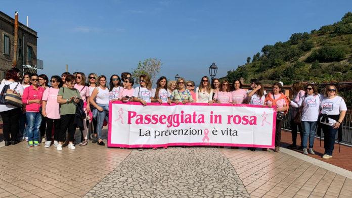 Corbara passeggiata in rosa