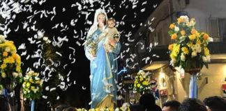 Angri. Madonna della Pace ritorno