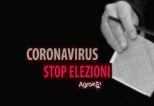 Coronavirus STOP ELEZIONI