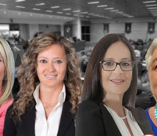 Da sinistra verso destra Anna Pia Strianese (Lega), Monica Paolino (Forza Italia), Teresa Petrosino (M5S) e Lucia Pagano (Centro Democratico)