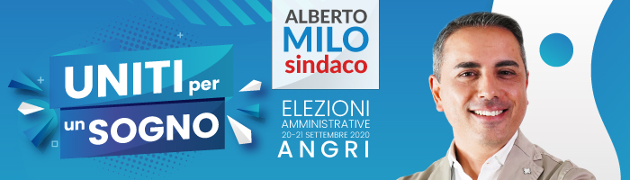 banner Alberto Milo Sindaco