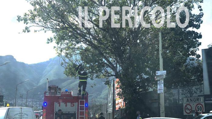 Angri Vigili del fuoco in Via Nazionale