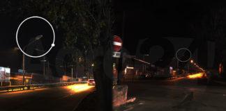 Angri Sant'Egidio buio all'Incrocio Via Quarto