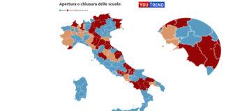 Covid Youtrend Mappa delle zone rosse
