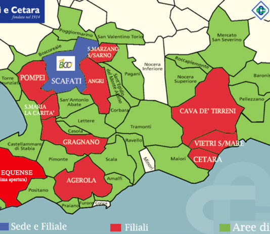 BCC SCAFATI E CETARA sede e filiali sul territorio