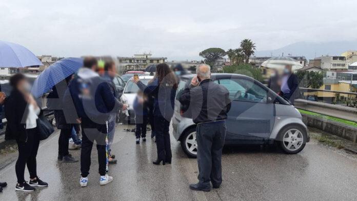 Angri Incidente sul Cavalcavia di Via Fontane