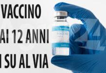Vaccino da 12 anni in su