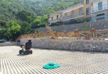 Corbara parcheggio eco sostenibile