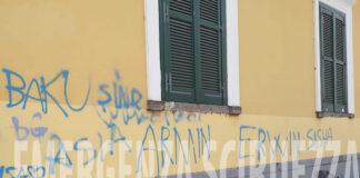 Angri Casa del Cittadino mura imbrattate