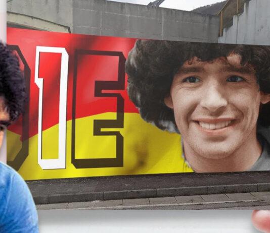 Sant'Antonio Abate murale per Maradona