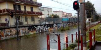 Scafati allagamento Stazione Circumvesuviana Foto Repubblica